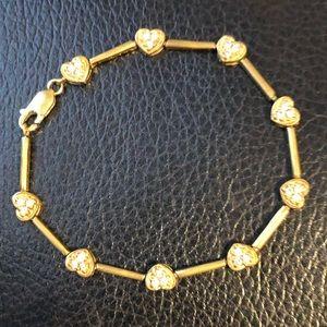 Jewelry - 14k gold over silver tennis bracelet